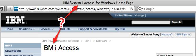 IBM i/System i Access