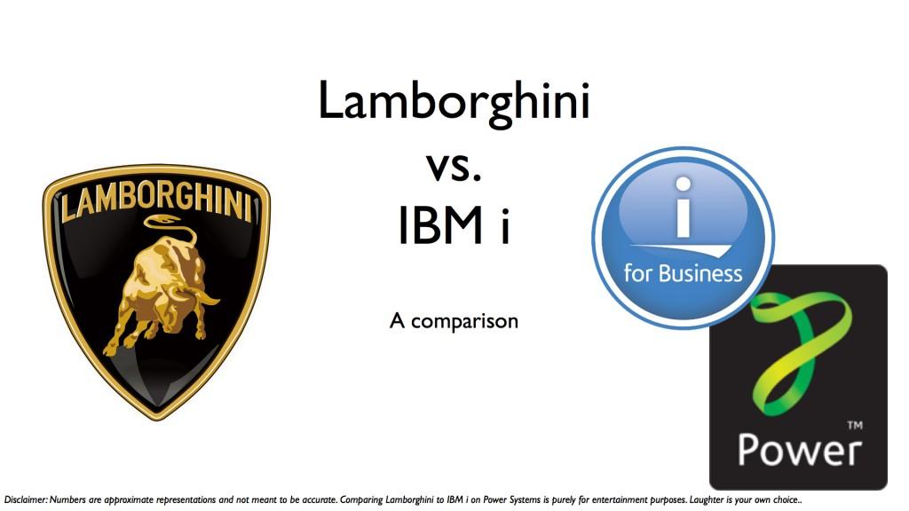 IBMi.vs.Lamborghini.001